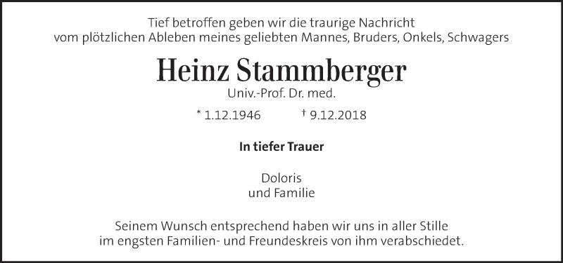 Traueranzeige für Heinz Stammberger vom 18.12.2018 aus Kleine Zeitung