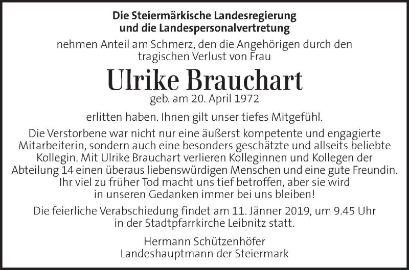Anzeige von  Ulrike Brauchart
