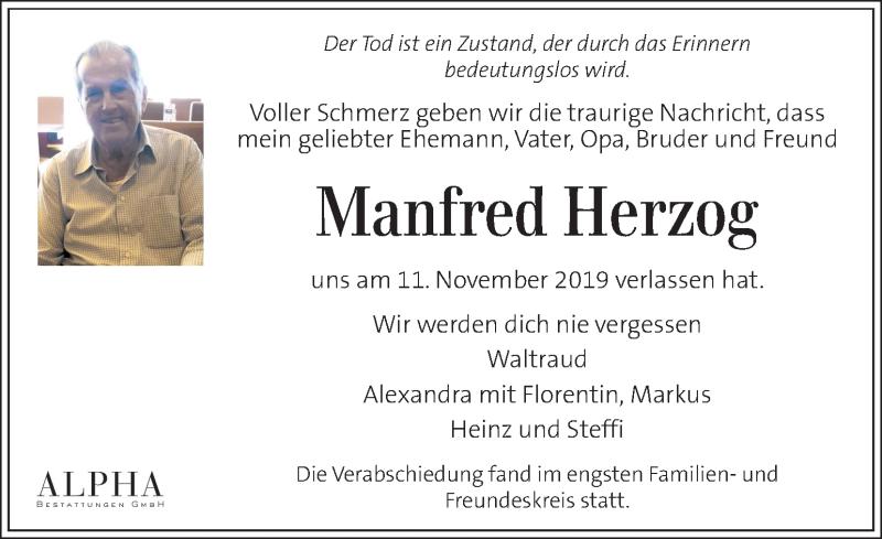 Traueranzeige für Manfred Herzog vom 30.11.2019 aus Kleine Zeitung