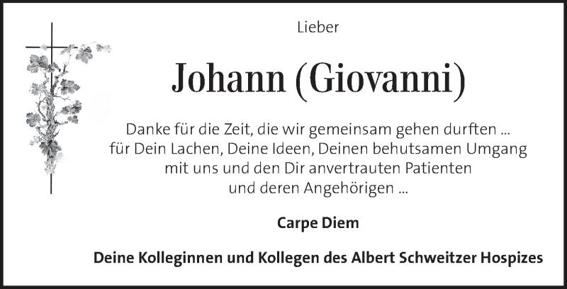 Traueranzeige für Johann  vom 17.02.2019 aus Kleine Zeitung