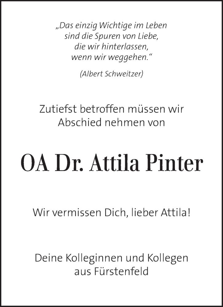 Traueranzeige für Attila Pinter vom 05.07.2019 aus Kleine Zeitung