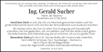 Traueranzeige für Gerald Sucher vom 11.07.2019 aus Kleine Zeitung