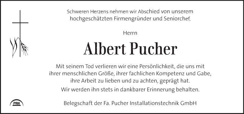 Traueranzeige für Albert Pucher vom 23.01.2020 aus Kleine Zeitung