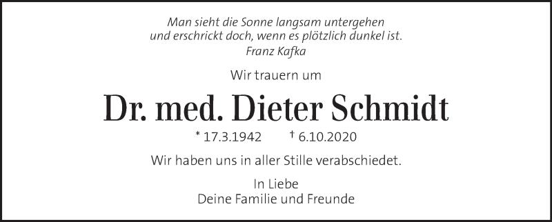 Traueranzeige für Dieter Schmidt vom 17.10.2020 aus Kleine Zeitung