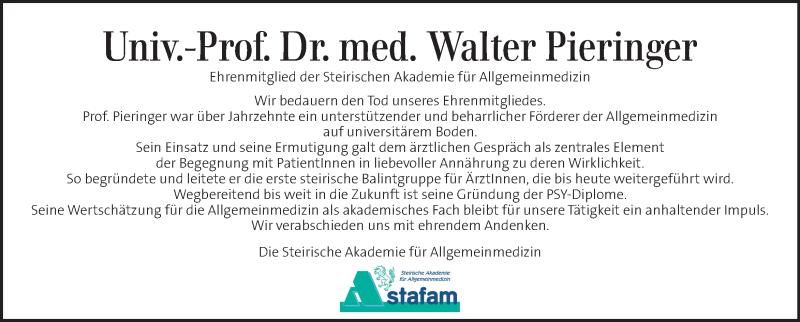 Traueranzeige für Walter Pieringer vom 25.10.2020 aus Kleine Zeitung