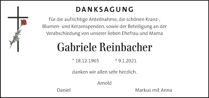 Traueranzeige für Gabriele Reinbacher  vom 20.01.2021 aus Kleine Zeitung