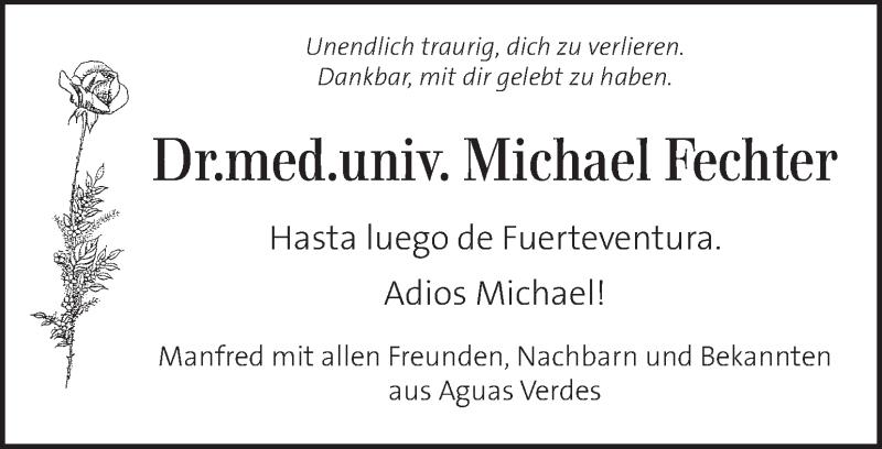 Traueranzeige für Michael Fechter vom 22.01.2021 aus Kleine Zeitung