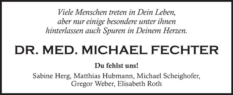 Traueranzeige für Michael Fechter vom 23.01.2021 aus Kleine Zeitung