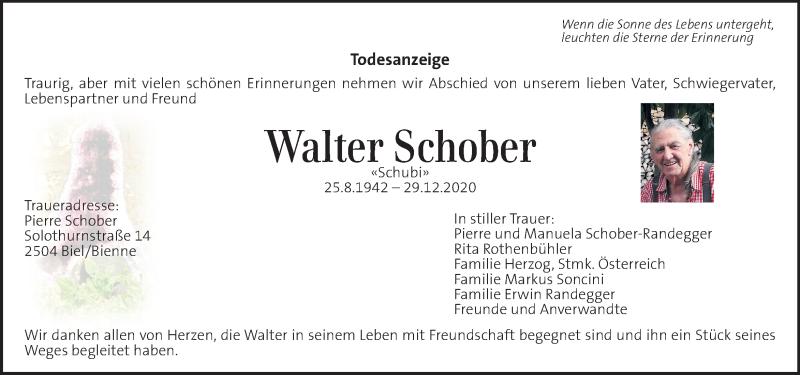 Traueranzeige für Walter Schober vom 17.01.2021 aus Kleine Zeitung