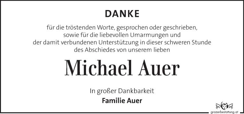Traueranzeige für Michael Auer vom 19.10.2021 aus Kleine Zeitung