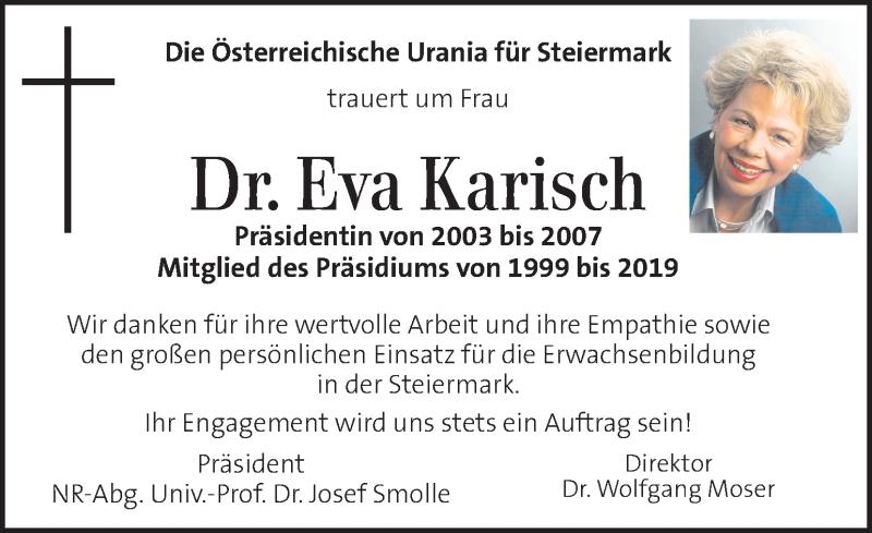 Traueranzeige für Eva Karisch vom 17.04.2021 aus Kleine Zeitung