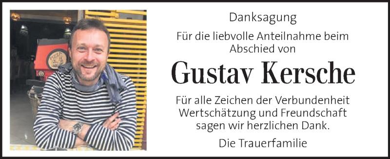 Anzeige von  Gustav Kersche