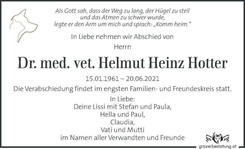 Traueranzeige für Helmut Heinz Hotter vom 25.06.2021 aus Kleine Zeitung